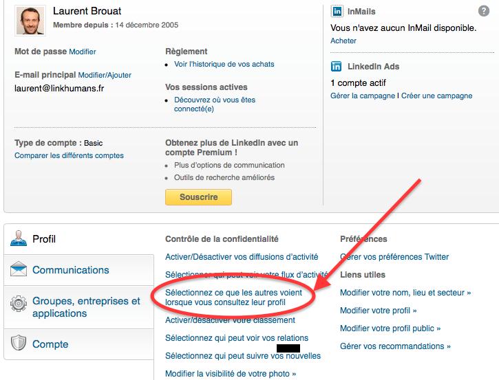 ce que les autres voient consulte profil Linkedin