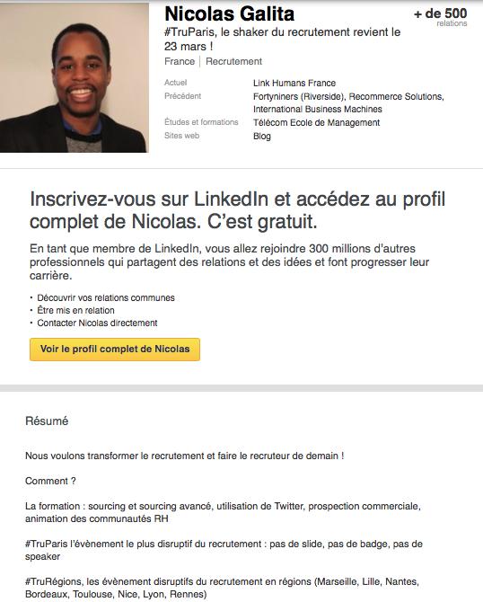 profil linkedin anonyme
