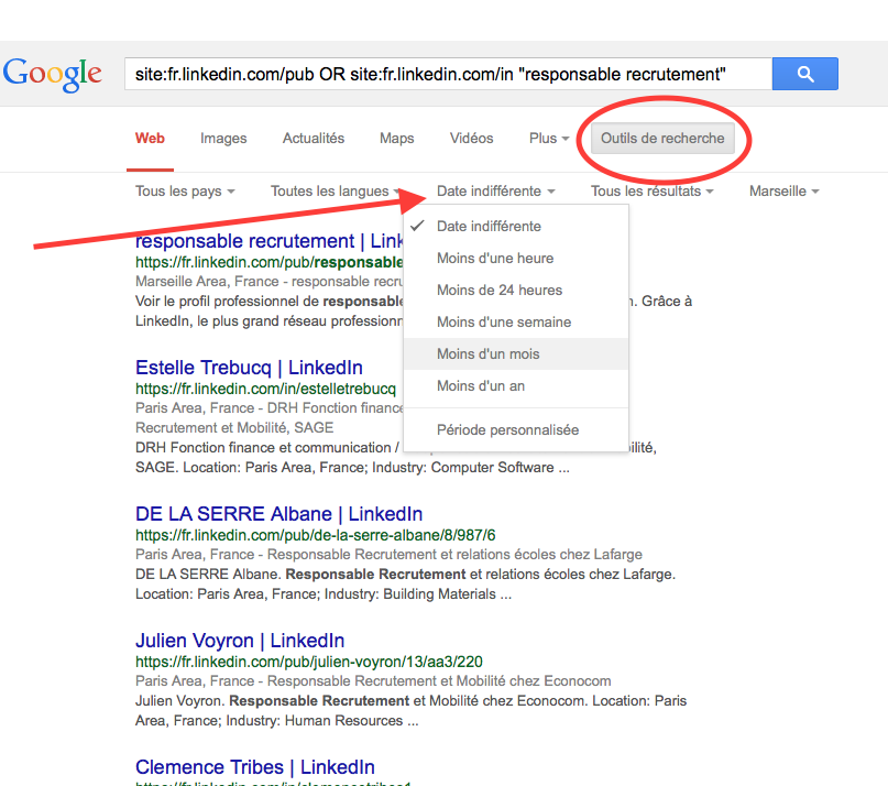 fonctions google recrutement
