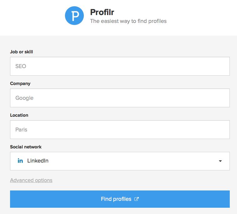 profilr sourcer gratuitement sur le web