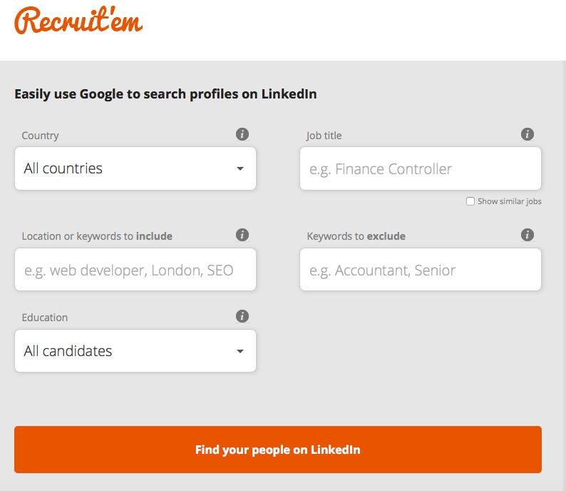 plateforme sourcing recruitem profils sur google