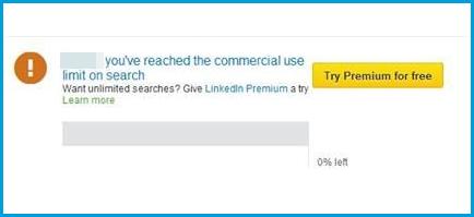 limite commerciale recherche LinkedIn