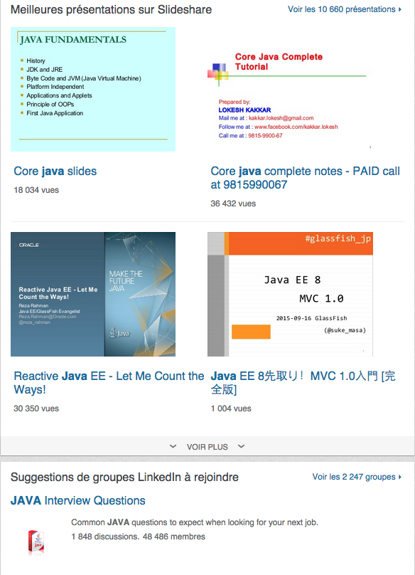 competences particulieres linkedin