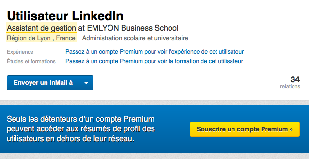 MessageUtilisateurLinkedIn