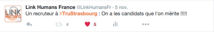 #TruStrasbourg polemique recrutement non conference