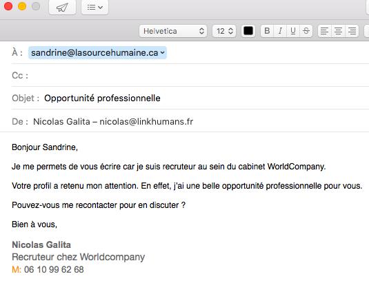 EmailSandrineSpam