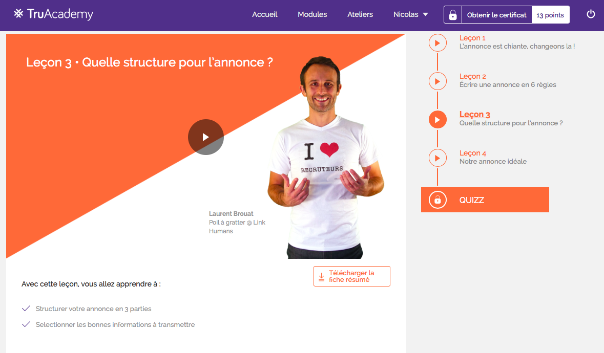 TruAcademy-Annonce