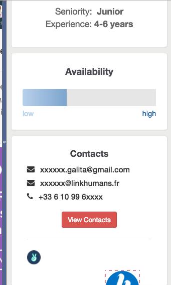 informations profil linkedin hiretual