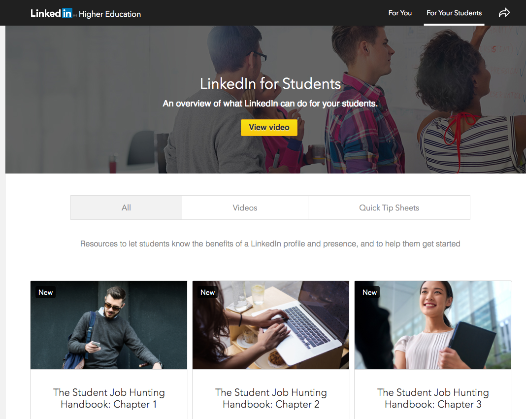 linkedin university sourcing