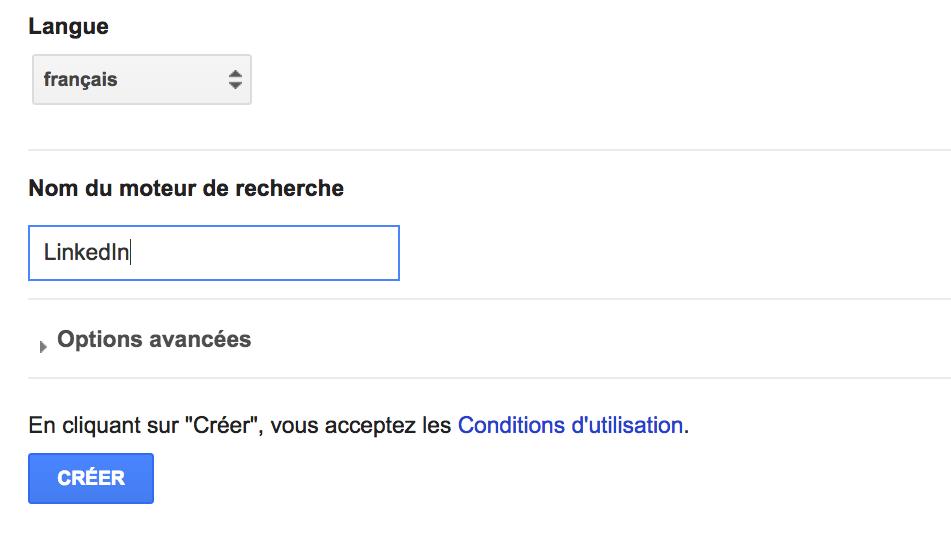 parametres Google CSE sourcing